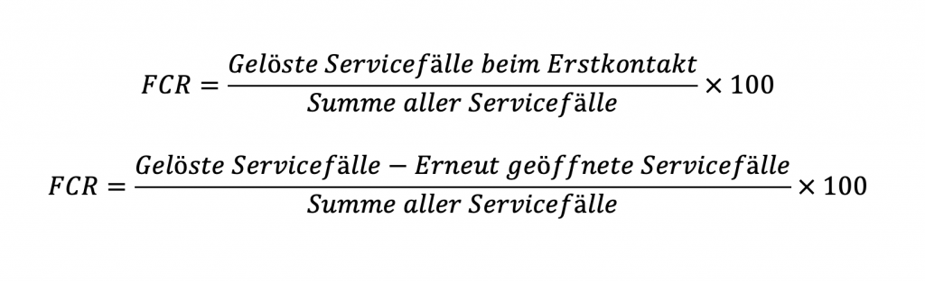 Was ist FCR – First Call Resolution?